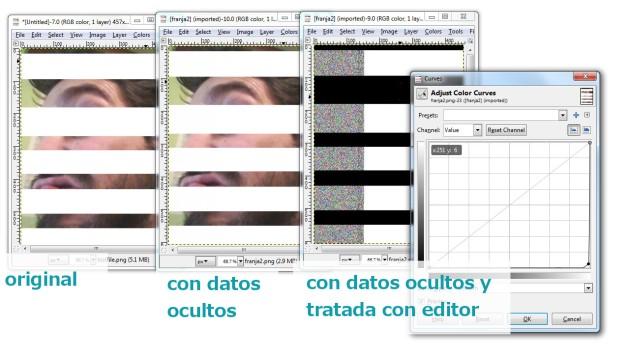 Imagen con franjas y pasada por editor gráfico